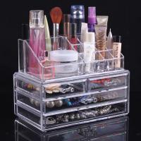 Wholesale Large Acrylic Makeup Organizer With Drawers Clear Cosmetic Cases from china suppliers