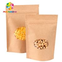 Wholesale Stand Up Brown Paper Bags For Candy Packaging With Window from china suppliers
