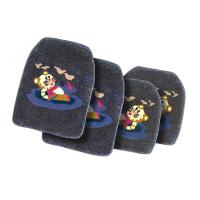 Wholesale Black Cartoon Custom Rubber Car Mats Tailored Car Carpets from china suppliers