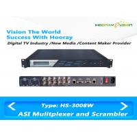 Wholesale DVB CATV Wireless TV Multiplexer and Scrambler Support 8 ASI input and IP input with CAS from china suppliers