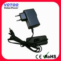Wholesale Ac Dc 5V 1A Power Adapter With Switch , Short Circuit Protection from china suppliers