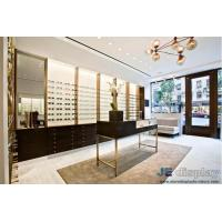 Buy cheap Fashion brand glasses store creative display shelf iron transparent glass quality display cabinets can be customized from wholesalers