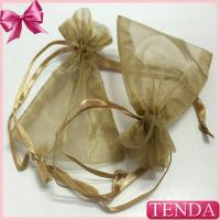 Wholesale Wholesale Retail Cheaper Jewelry Jewel Transparent White Silver Gold Drawstring Organza Pouches from china suppliers