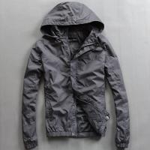 Wholesale Lightweight Nylon Waterproof Men'S Windbreaker Jacket Black Or Custom Color from china suppliers