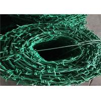 Wholesale PVC Coated PE Coated Security Barbed Wire , Barbed Wire Wall Price Per Roll from china suppliers