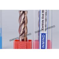 Wholesale Long Shank Carbide End Mill Cutter Flat End Mill With 2 / 4 Flutes from china suppliers