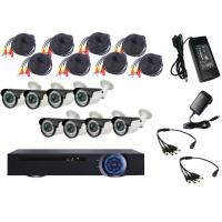 Wholesale Waterproof 1080P AHD CCTV Camera Set DVR Surveillance System For City Street from china suppliers