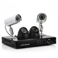 Wholesale MJPEG DVR Surveillance System With 4 pcs of Outdoor Camera Support SATA HDD from china suppliers