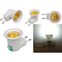 Wholesale E27 Base Socket EU Plug Night Light With Power On-off Control Switch wall E27 fixture with Insert wall type from china suppliers