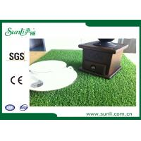 Buy cheap Double Green Indoor Artificial Grass Carpet 5500Dtex PE Material Natural Looking from wholesalers