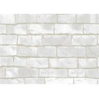 Quality Chinese Style Interior Room Wallpaper , Non pasted PVC 3D Brick Effect Wallpaper for sale