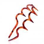 Wholesale 2~3cm plastic hair bands black&brown color hair ornament
