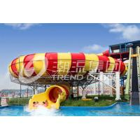 Wholesale Exciting Garden Water Slide , Giant Space Backyard Water Slides Red / Yellow from china suppliers