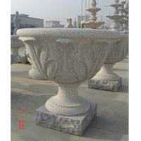 Wholesale Flowerpot with Leaf Status, Grey Granite Flower Bed from china suppliers