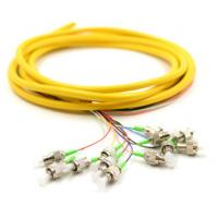 Wholesale FC / APC Optical Fiber Pigtail 12PK Yellow Jacketed Fiber Pigtails 3 Meters from china suppliers