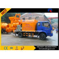 Wholesale Hydraulic Concrete Truck With Pump , Cement Mixture Machine 100kw Generator from china suppliers