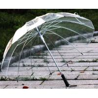 Wholesale 16K super skeleton Transparent Clear Dome contracted self/motion open umbrella#B from china suppliers
