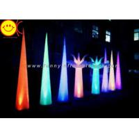 Wholesale Colorful Changing Inflatable Advertising , LED Inflatable Light Tower 3mH Party Event Cone from china suppliers