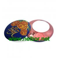 Wholesale Food grade round mint tin box with plastic dispenser and mirror from china suppliers