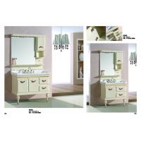 Quality Floor Standing Embossing PVC Bathroom Cabinet / Bathroom Decoration Furniture for sale