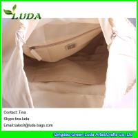 Quality LUDA drawstring bag handmade lady handbags plain cornhusk straw bag for sale