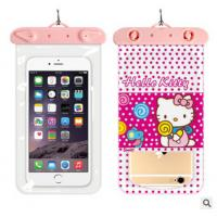 Wholesale Cartoon Cat Animal Clear View Waterproof pouch Dirtproof Cover Bag Case for mobilr phone from china suppliers