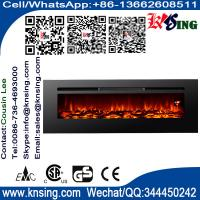 "Quality 40""50""60""Insert electric fireplace heater log LED flame effect IF-1340A wall mounted built-in flat front electric stove for sale"