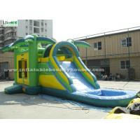 Buy cheap Big Outdoor Jungle Inflatable Bounce Houses With Water Slide Weight 209 Kg from wholesalers