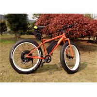 Wholesale High Speed 1000W Fat Tire Beach Bikes / Custom Mountain Bike With Super Fat Tires from china suppliers