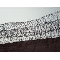 Wholesale Beautiful Straight / Single Coil Fence Security Wire , Sharp Razor Barbed Wire Fence from china suppliers