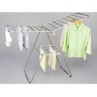 Wholesale Urban Industrial Folding Clothes Rack , Heavy Duty Double Bar Garment Drying Rack from china suppliers
