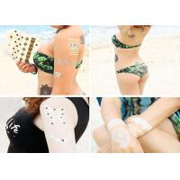 Quality Water Transfer Flash Metallic Tattoo Stickers Gold Foiled Body Decoration for sale