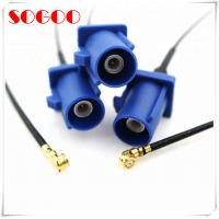 Wholesale U.FL To Fakra C Rf Coaxial Cable / Straight Blue Jack Auto Coaxial Cable Assembly from china suppliers
