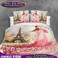 Wholesale Little Girl Rose Flowers Design Pure Polyester 3D Printed Bedding Sets from china suppliers