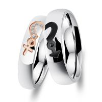 Wholesale Titanium Custom Couple Rings / No Diamond Engagement Rings For Anniversary from china suppliers