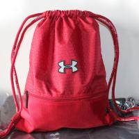 Buy cheap Custom silk printed drawstring polyester gym bag for sports from wholesalers