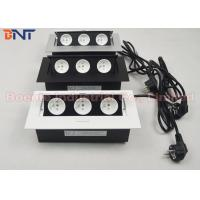 Wholesale Europe Popular High-class Office Tabletop Hidden Pop Up Power Sockets White Black Silver from china suppliers