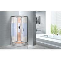 Wholesale KPN2064 Customized Circle Glass Shower Cabin , Curved Corner Shower Units from china suppliers