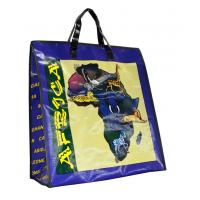 Wholesale Africa Map PP Woven Shopping Bags Black Edge 4c Printing from china suppliers
