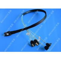 SFF 8087 To SATA Serial Attached SCSI Cable 500mm 30 AWG 28 Pin For Server