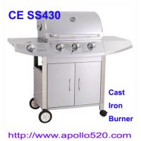Wholesale Christmas Promotion Stainless Propane BBQ Grill with cast iron burner from china suppliers