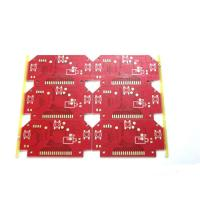Wholesale Two Layers Aluminium Base Red Solder Mask Immersion Gold Finishing High TG PCBs from china suppliers