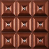 Buy cheap Contemporary Wall Panels 3D Leather Wall Panels Heat Insulation , D-017 from wholesalers