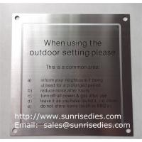 Wholesale Stainless steel warning plates, enamel stainless steel warning plaque with screw holes from china suppliers