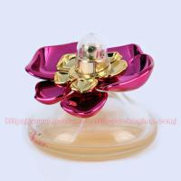 Wholesale 30ml Cone Glass (bottom colored) Perfume Bottle Packaging with UV Plastic Cap and FEA 15mm gold Perfume Pump/collar from china suppliers