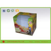 Wholesale Folding Packaging Boxes With PVC Window , Matt Lamination Square Gift Boxes from china suppliers