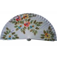 Wholesale Hand Drawn Patterns Wooden Hand Fan For Gift , Souvenirs , Holiday Parties Esthetical from china suppliers