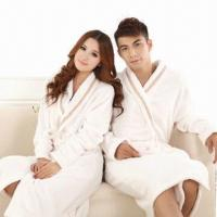 Bath Set of Bath Robe for Lovers, Made of 100% Cotton, Comfortable, Customized Designs are Welcome