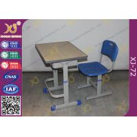 Wholesale Height Adjustable Floor Free Standing Kids School Desk Chair With Foot Rest from china suppliers