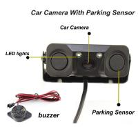 Wholesale Reverse camere New 2 in 1 Sound Alarm CCD HD Car Reverse Backup Camera Parking Radar System guide line with data from china suppliers